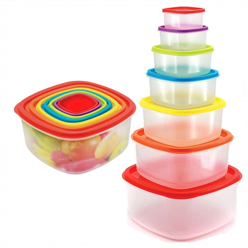 14 pcs food container - microwave safe