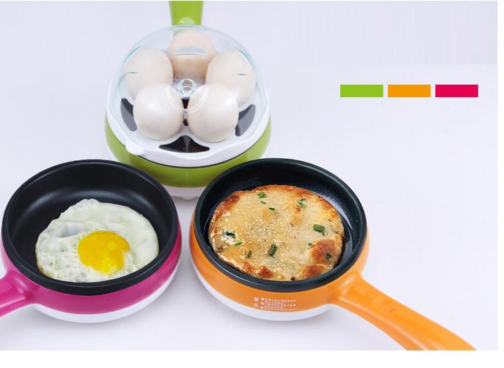 2 in 1 electric pan, egg boiler and frying
