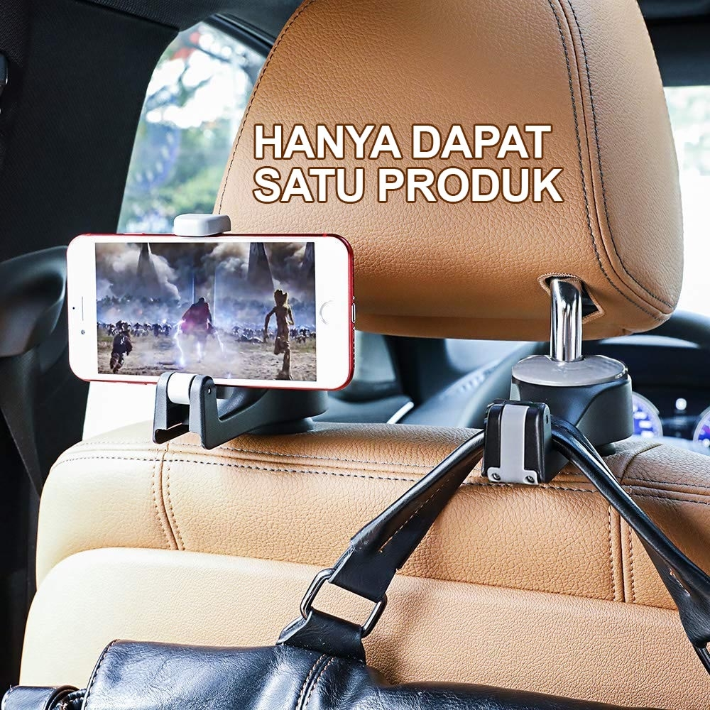 2 in 1 hook - gantungan mobil multifungsi dan holder HP