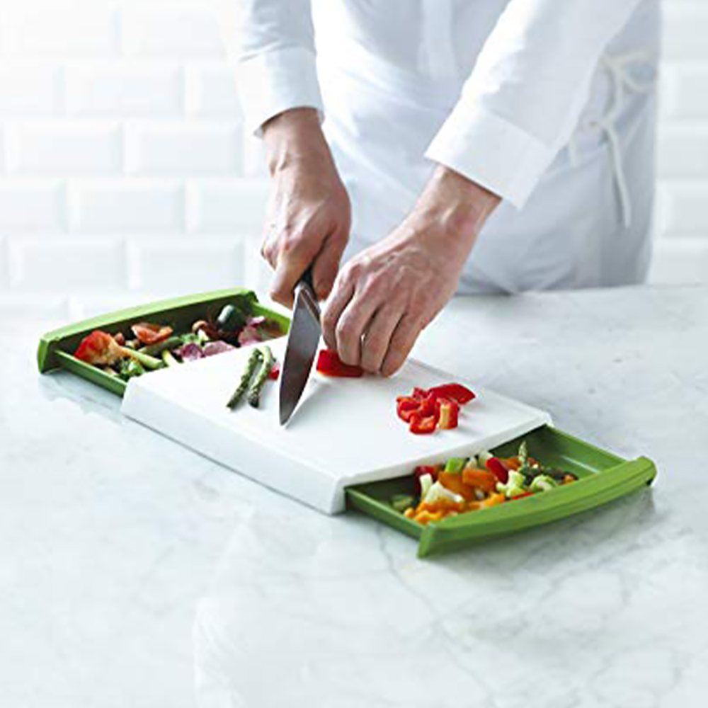 chop n clear cutting board - talenan dengan laci