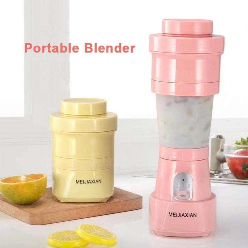 Folding Electric Juicer - Blender Lipat Portabler Juice 6 Mata Pisau Random