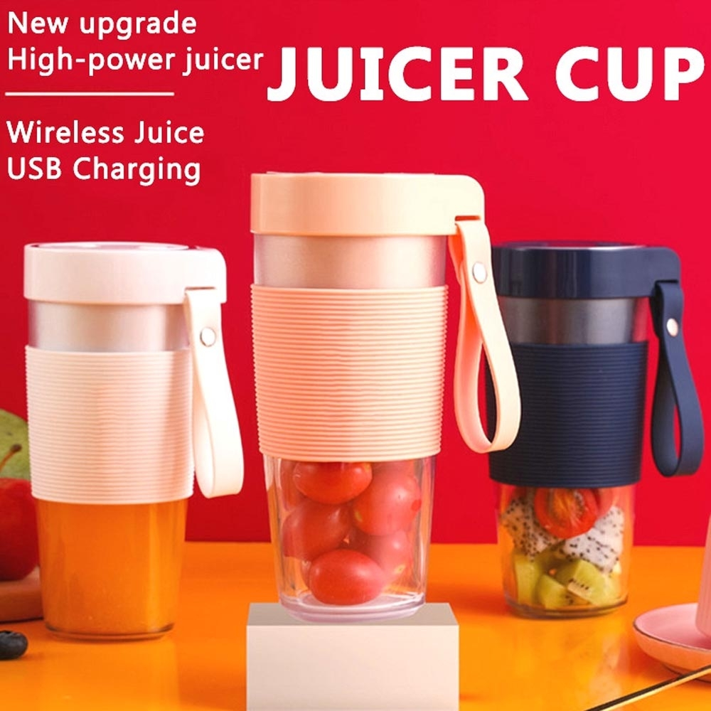 juicing cup / gelas juice portable blender cup - blender juice sayuran dan buah charger portable 4 mata pisau