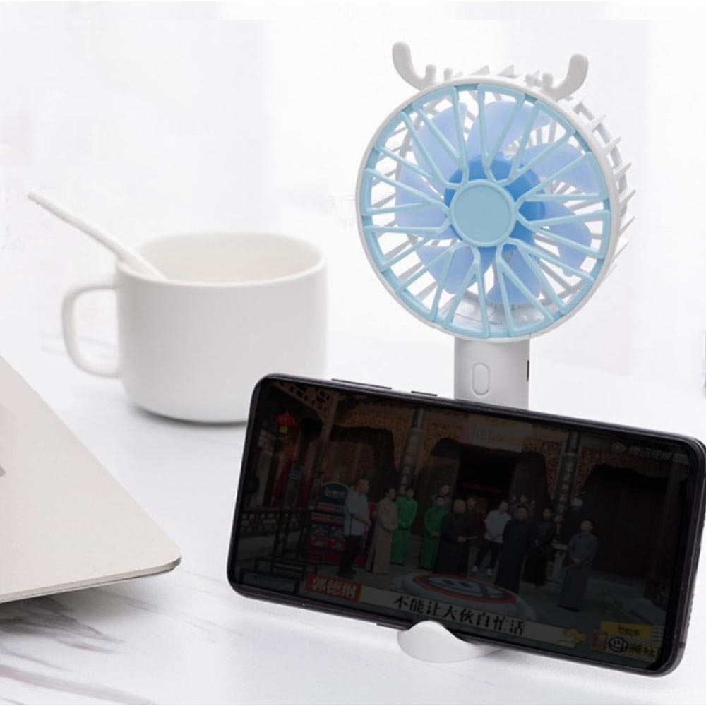 Kipas angin portable mini fan terbaru ada holder HP / mini fan usb charging Rechargeable L18